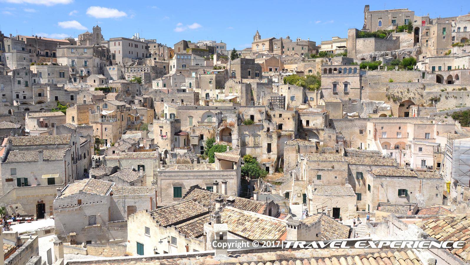 Foto panorama dei Sassi di Matera