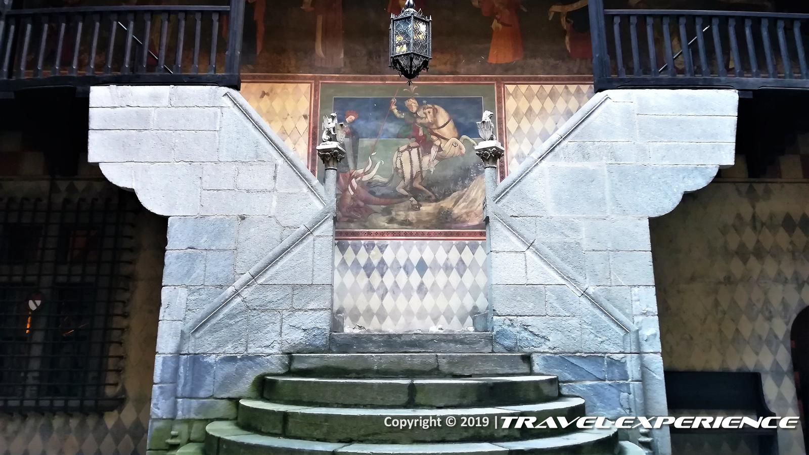 Cortile interno della Rocca del Borgo Valentino di Torino