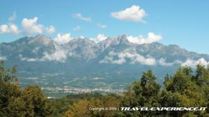 panorama dal Castello di Zumelle (BL)