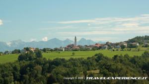 Mel vista dal Castello di Zumelle (BL)