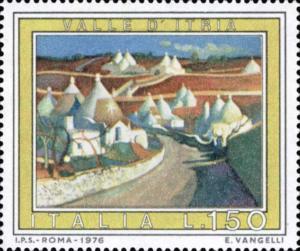 Francobollo dedicato alla valle d'Itria