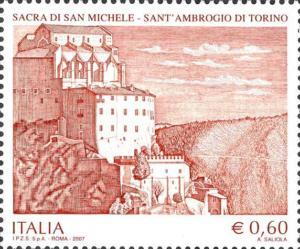 Francobollo Sacra di San Michele