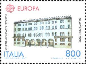 Francobollo Palazzo delle Poste, T-Fondaco