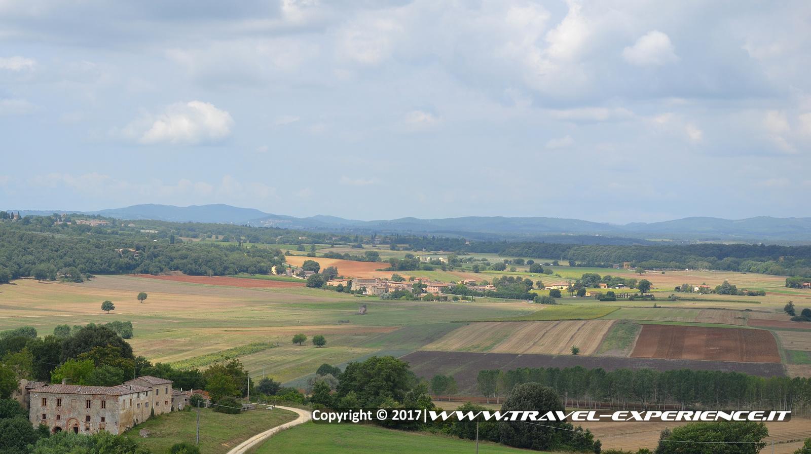 Foto panorama visto da Monteriggioni