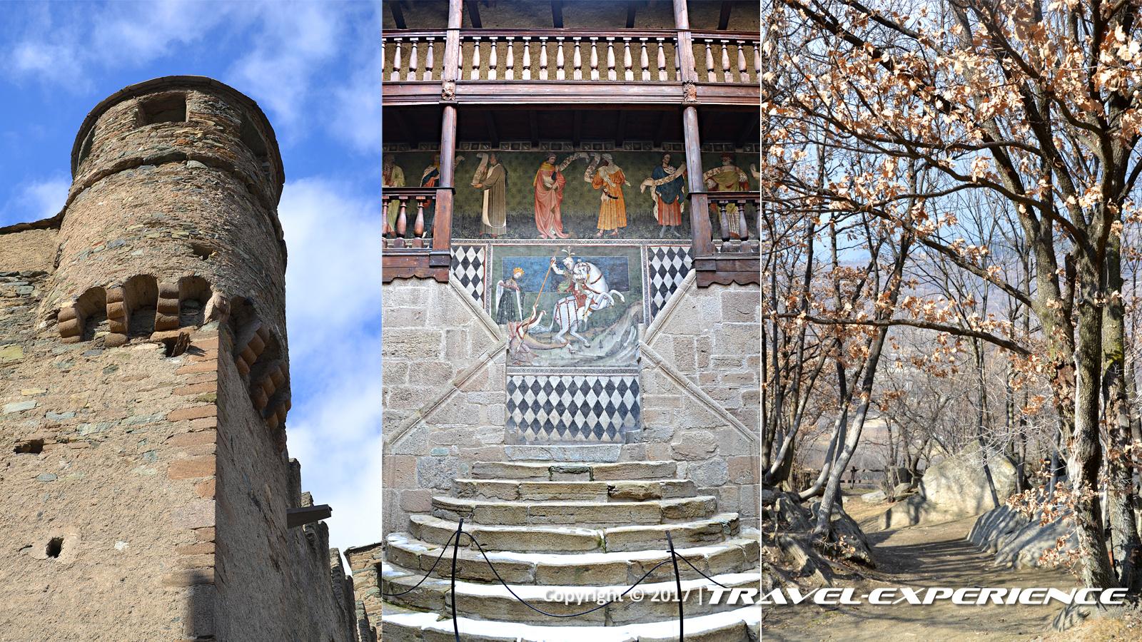 Foto dettagli castello di Fénis