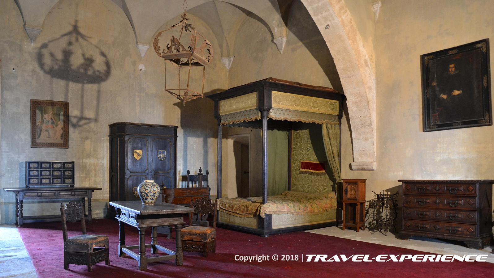 foto interno castello Caetani di Sermoneta