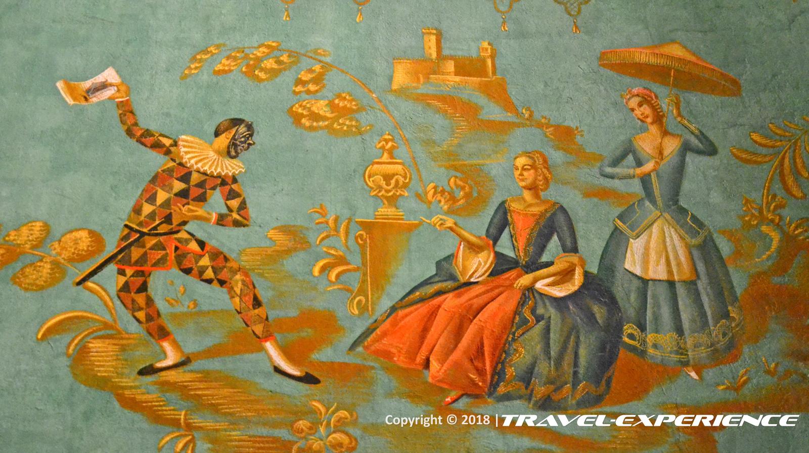 Foto particolare del teatro del castello di Vigoleno