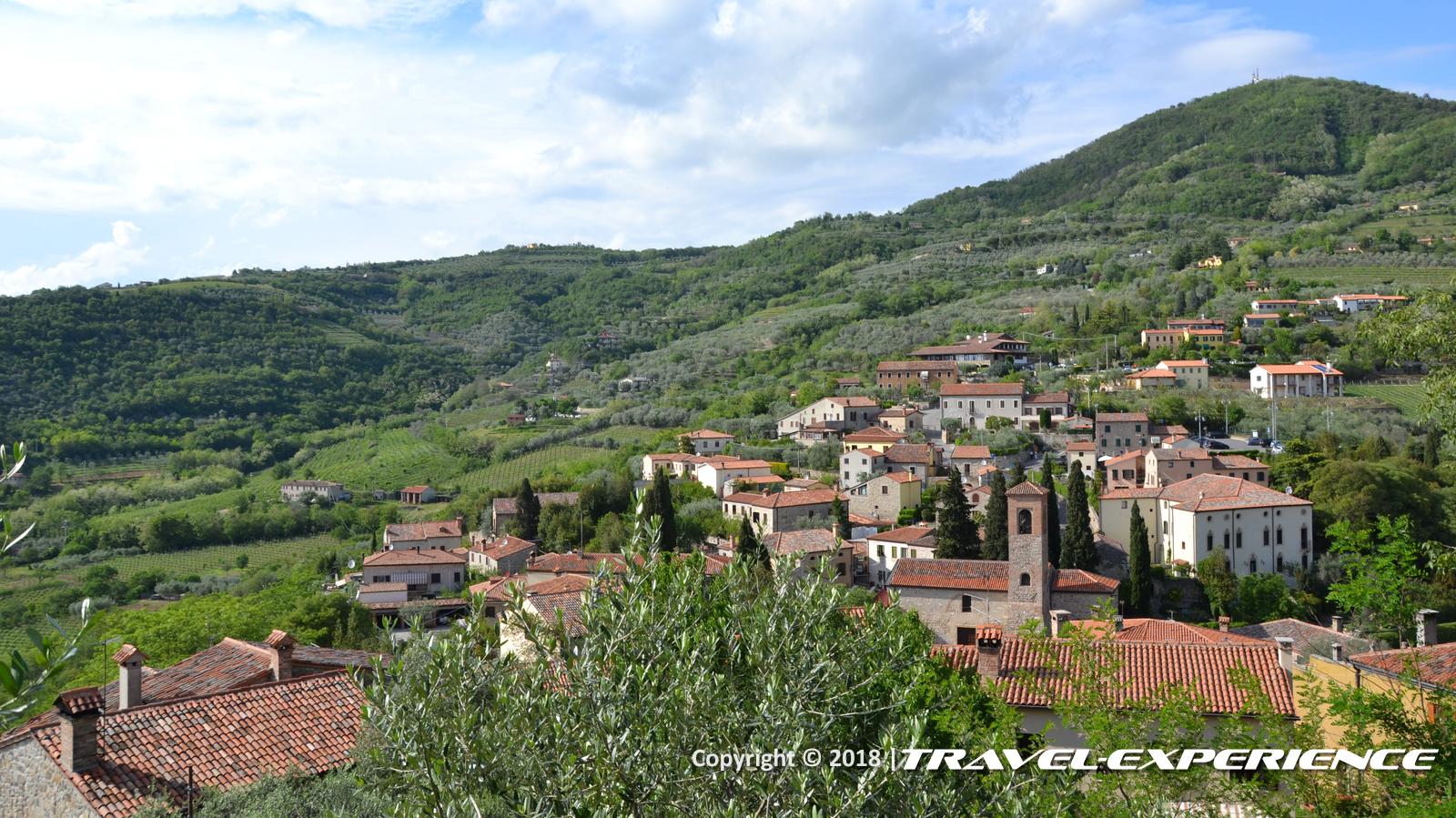 foto Arquà Petrarca vista dall'alto