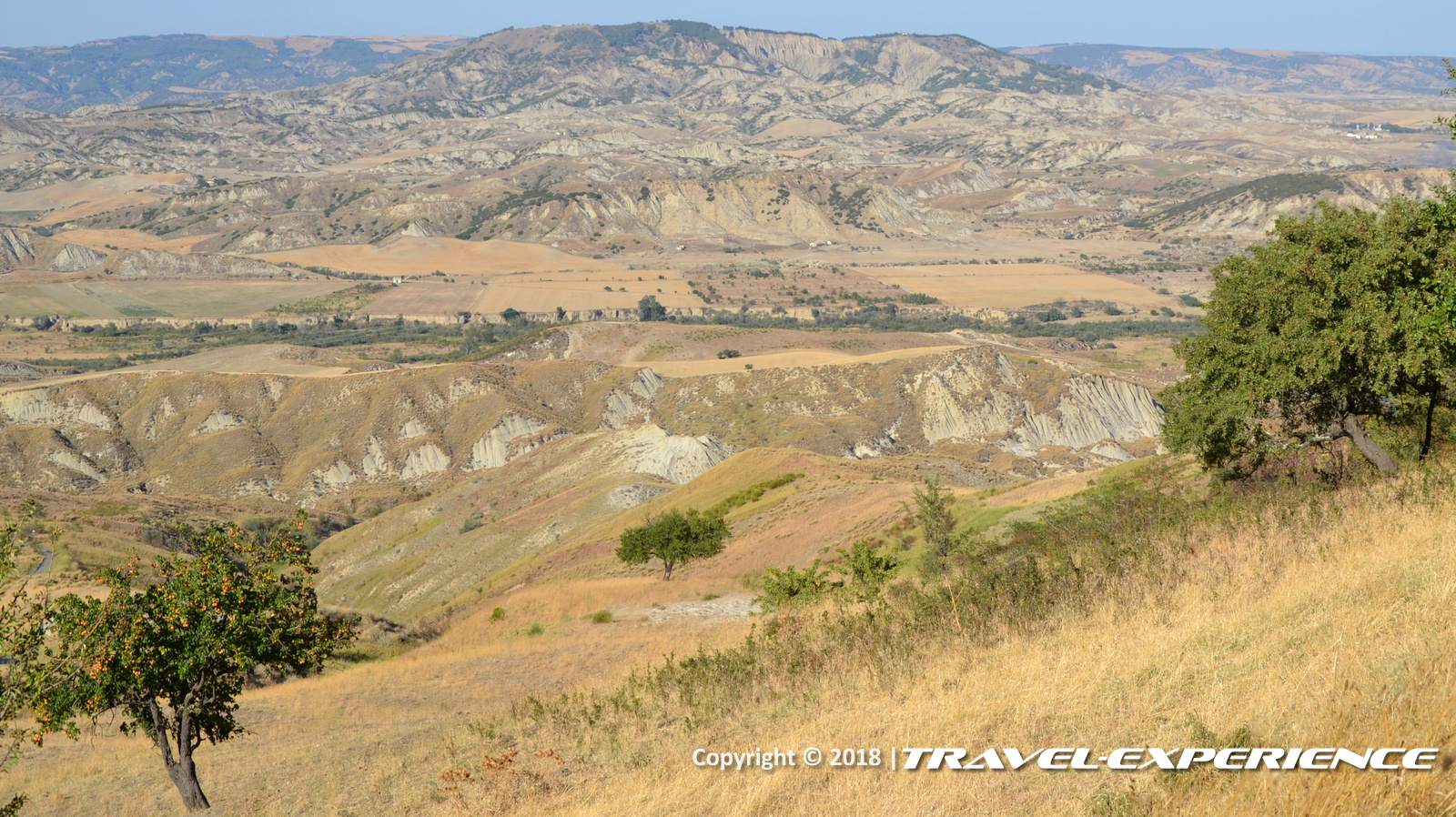 foto panorama visto da Craco