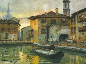 Laghetto di Santo Stefano a Milano e Ospedale Maggiore, barche di tencitt