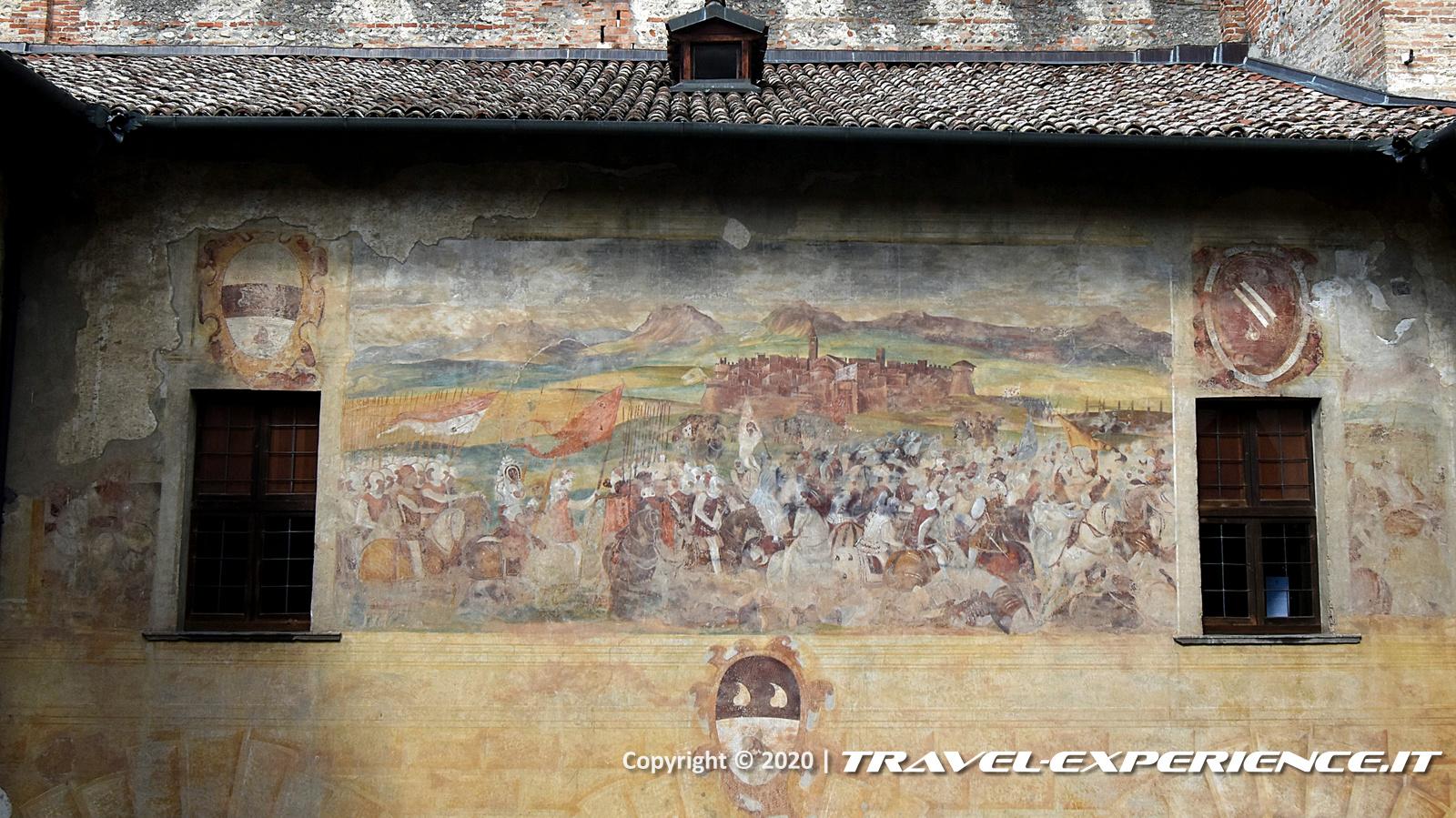 Affresco della Battaglia di Bergamo nel castello di Malpaga