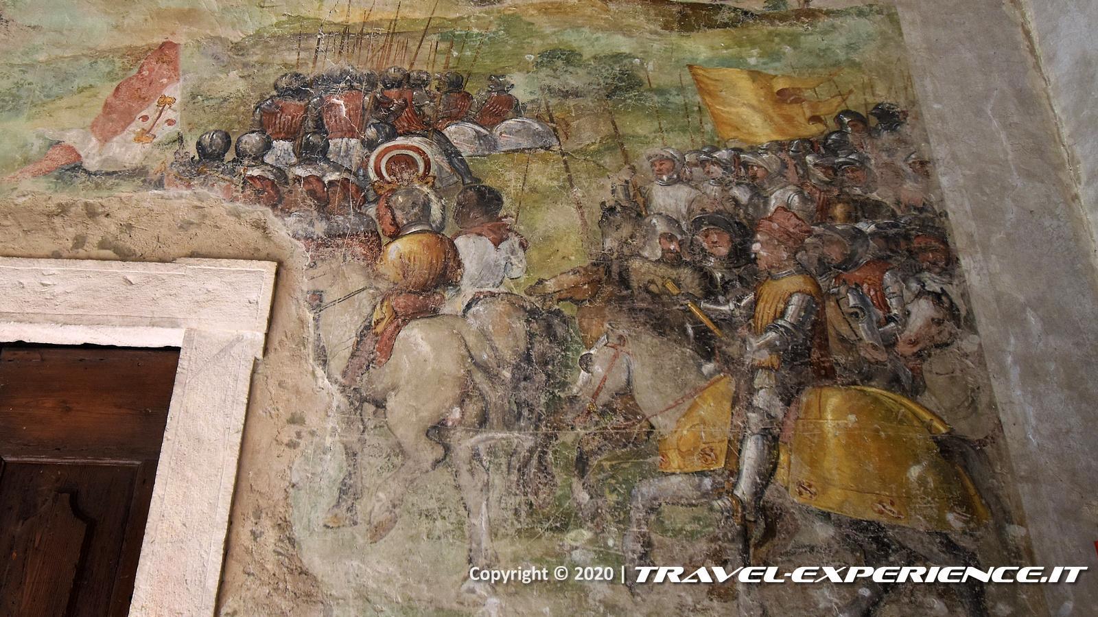 Affresco del Colleoni al castello di Malpaga
