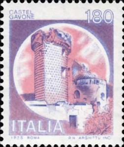 Francobollo Castel Gavone, Torre dei Diamanti, Finalborgo, Finale Ligure