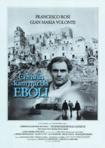 Locandina film Cristo Si è fermato a Eboli con Craco sullo sfondo