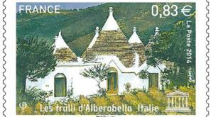 Francobollo francese dedicato ad Alberobello