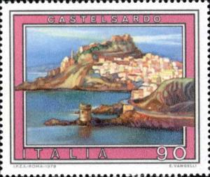 Francobollo serie turismo su Castelsardo, Sardegna